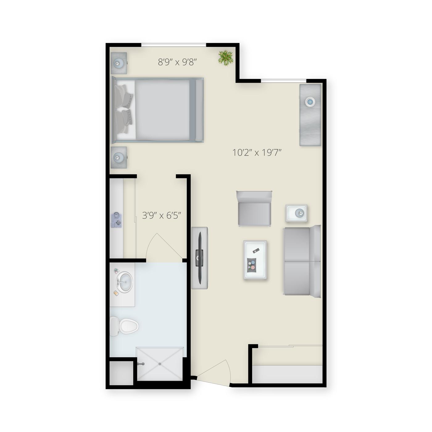 Studio Floor Plan Residential Care