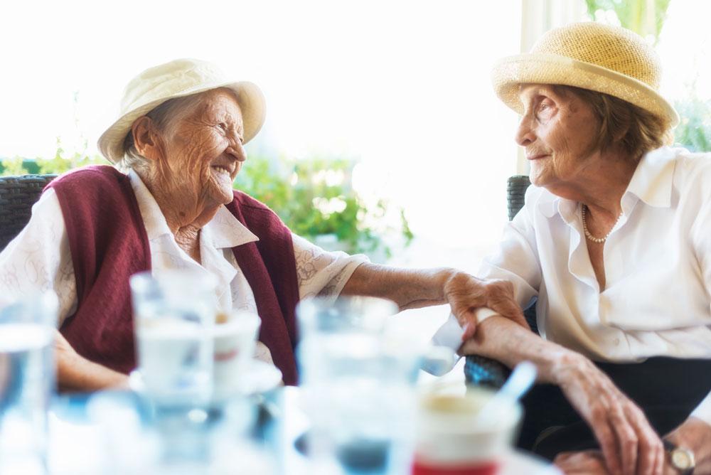 Two Seniors Enjoying the Lifestyle at Charter Senior Living